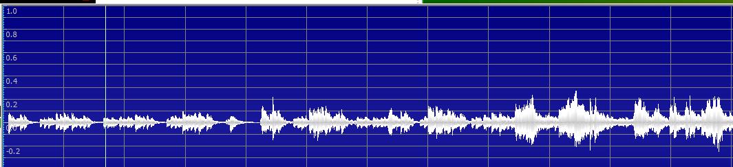图六:已录制完毕的音频内容音频波形图