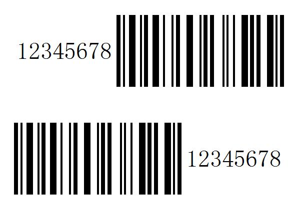 条码可读字符方位