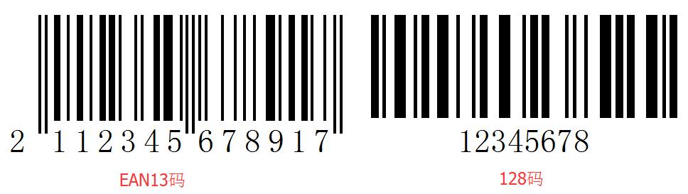 条码正常结构示意
