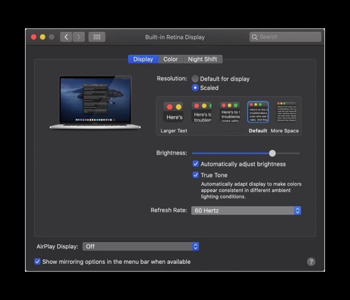 16英寸 MacBook Pro独家功能