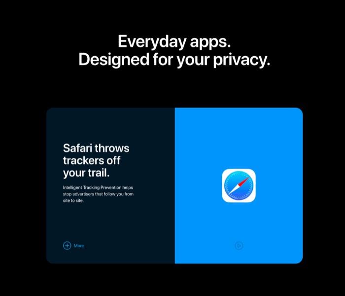 苹果隐私保护新网页