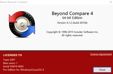 Beyond Compare 4界面图例