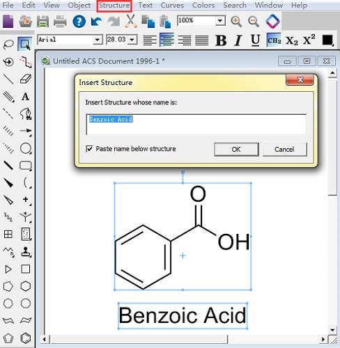 苯甲酸平面结构式