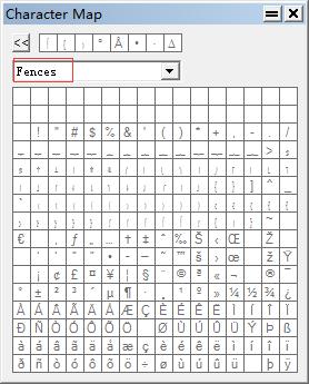 字符映射表