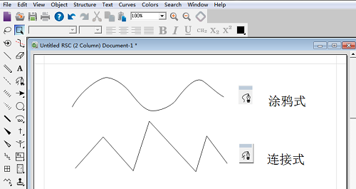 ChemBioDraw两种子笔工具所做图形比较