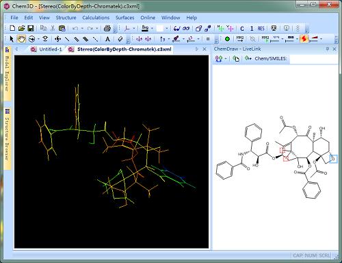 三维彩色结构效果图