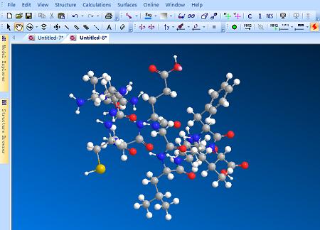 建立十肽菌素分子的ChemBio 3D模型