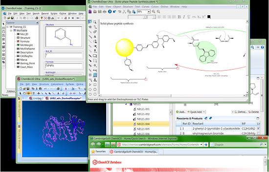 ChemBioOffice用于管理和研究化合物、反应式、材料及相关属性