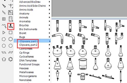 ChemDraw绘制实验装置
