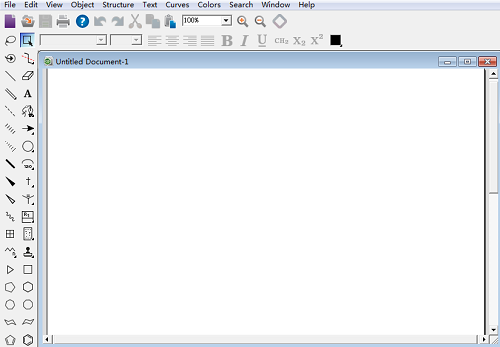 ChemDraw Std 14.0绘制窗口页面