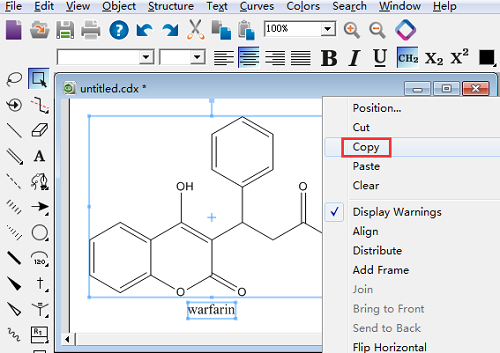 将ChemDraw编辑好的结构图复制到Word里