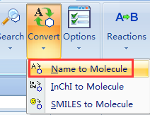 使用Convert Name to Molecule命令