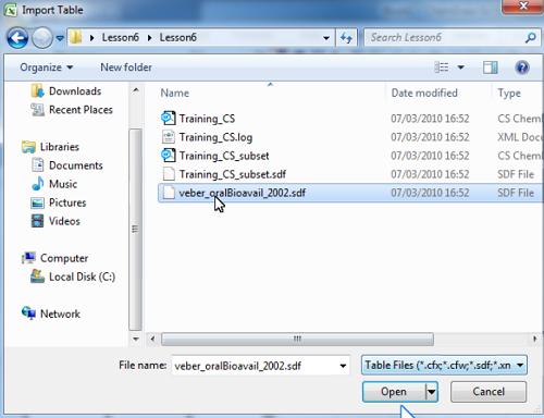 选择需要的sdf格式文件