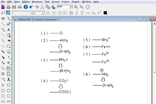 ChemDraw电荷分配实例