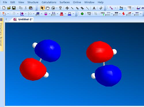 Chem 3D软件绘制分子轨道