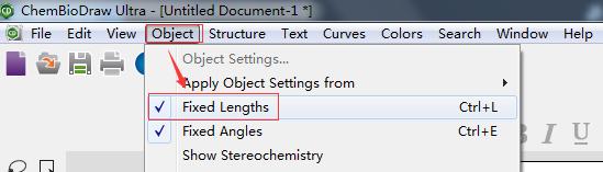 ChemDraw Fixed Lengths按钮