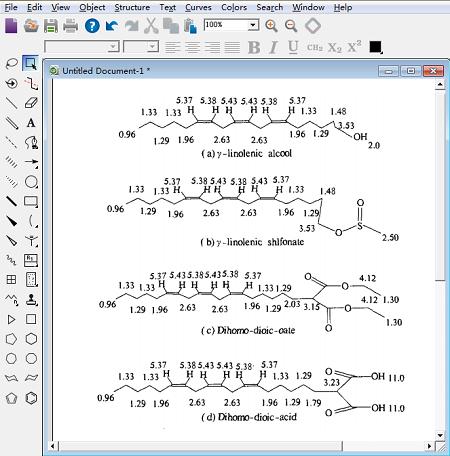 ChemDraw模拟图谱功能示例