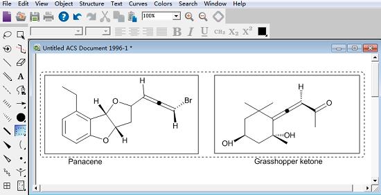 绘制两种联烯结构