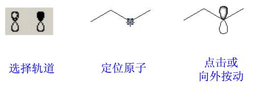 ChemBioDraw p-轨道绘制过程
