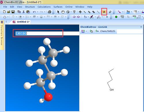 同步观察平面和立体乙醚结构式