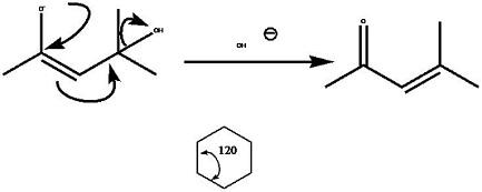 用箭头表示电荷转移,键角