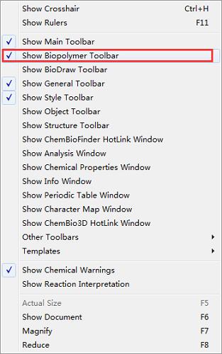 显示聚合物工具任务栏框