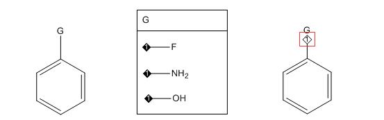 连接等级指示器号和取代基框内的编号一致