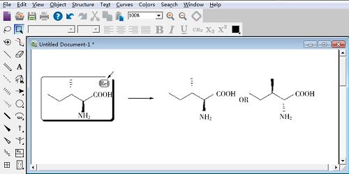 Rel 标旗指示所绘制的准确立体异构体或它的反映体
