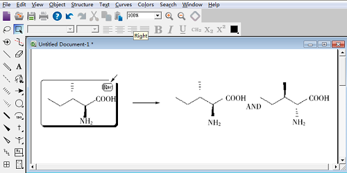 Rac 标旗指示所绘制的准确立体异构体和它的反映体