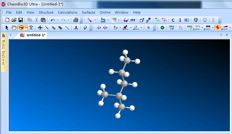 4-甲基-2-戊醇模型示例图