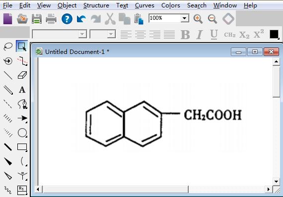 β-萘乙酸的分子结构式