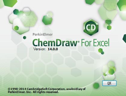ChemDraw for Excel 14.0版本