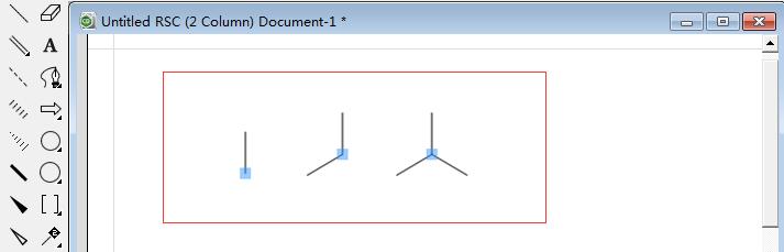 建立三键对称结构