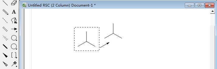 复制三键对称结构