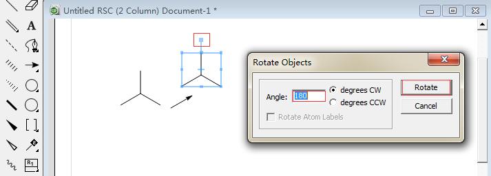 旋转复制的三键对称结构