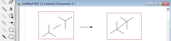 加键连接两个三键对称结构