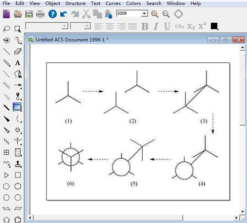纽曼投影式的绘制过程图