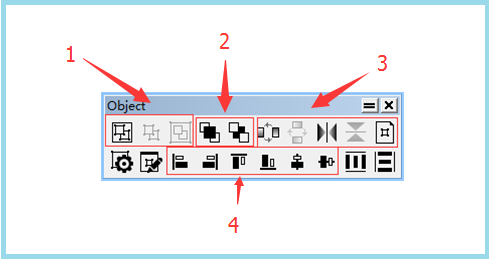 Object工具栏示图