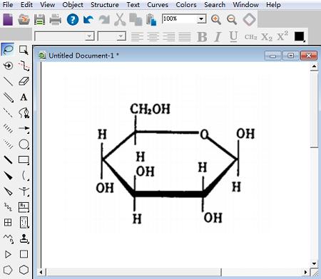 β-葡萄糖哈沃斯式立体结构图