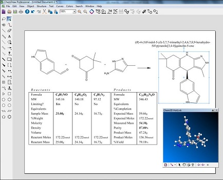 ChemDraw Professional界面