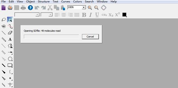 ChemDraw打开SD文件