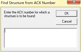 Find Structure from ACX Numbers命令