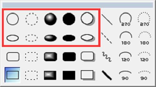 ChemBioDraw图形元素中的圆和椭圆工具