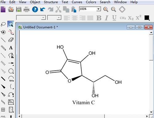 ChemDraw Prime 15绘制的维生素C
