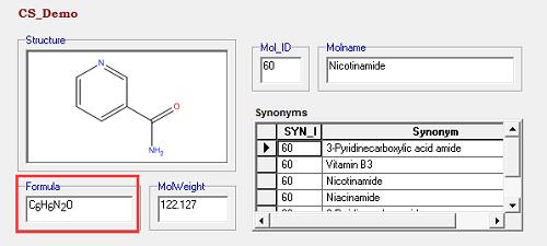 分子式检索结果