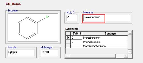 分子名称检索结果