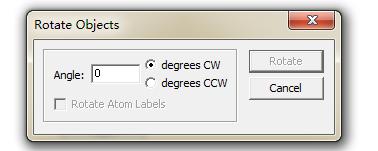 ChemDraw 按指定角度旋转结构