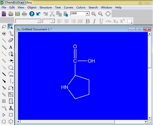 ChemDraw窗口蓝底白字显示