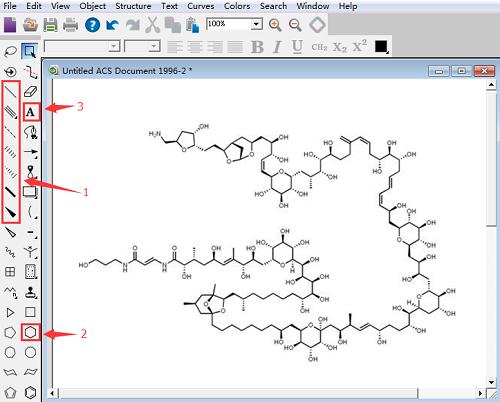 ChemDraw绘制岩沙海葵毒素结构式