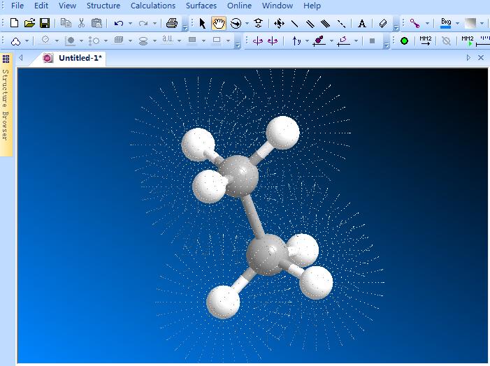 显示原子表面点效果图